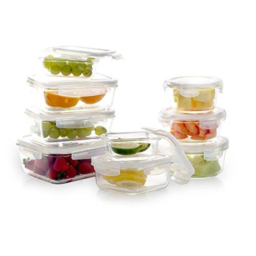 14315e81b7b6 BINO 18-piece TRUELOCK Glass Food Storage Set