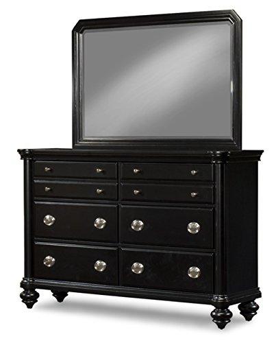 Distressed Black Dresser front-935430