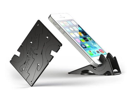 ピタゴラスタンド by PocketTripod iPhone5/5S用 カードサイズ 携帯スタンド (M, ブラック)