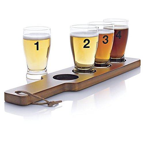 crate-barrel-5-piece-numbered-beer-taster-sampler-set-5-ounce-clear-pilsner-glass-set