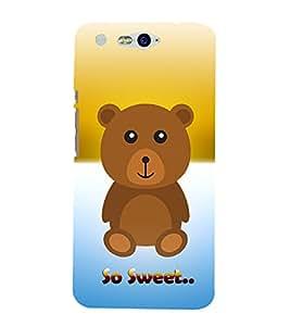 Teddy Bear Cute Fashion 3D Hard Polycarbonate Designer Back Case Cover for InFocus M812