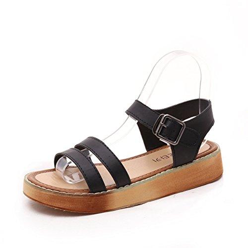 Mode été strap flat Sandals/Sandales casual avec des semelles épaisses