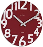 Acctim 27404 Carib Wall Clock, Poppy Red