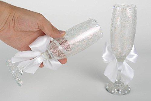 Flûtes à champagne fait main Verres de mariage Décoration mariage 2 pièces 17 cl