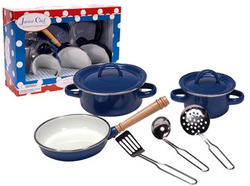 Children's 6-Piece Deluxe Enamel Cooking Set *Set includes two enamel pots with lids, once sauce pan, three utensils* - Buy Children's 6-Piece Deluxe Enamel Cooking Set *Set includes two enamel pots with lids, once sauce pan, three utensils* - Purchase Children's 6-Piece Deluxe Enamel Cooking Set *Set includes two enamel pots with lids, once sauce pan, three utensils* (Junior Chef, Toys & Games,Categories,Pretend Play & Dress-up,Sets,Cooking & Housekeeping,Cooking & Baking Kits)