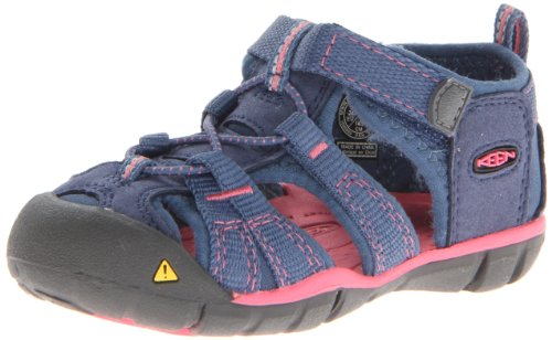 Keen Unisex - Child SEACAMP II CNX I-ENSIGN BLUE/CAMELLIA RO Sandals Blue Blau (ENSIGN BLUE/CAMELLIA RO) Size: 22