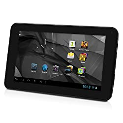D2 7-Inch Android 4.1 Jelly Bean/ 4GB/512MB DDR3/16:9 Capacitive Multi-Touch Screen Internet Tablet with One Pre-loaded Family Movie - Black