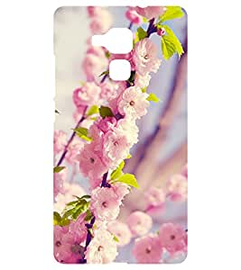 Chiraiyaa Designer Printed Premium Back Cover Case for Huawei Honor 5C (flower pink winter) (Multicolor)