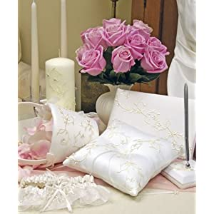 Wedding Guestbook, Ring Pillow, Garter & More: Sparkling Entwined Collection