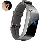 Bluetooth Headset Earphone Smartwatch AFYOU Waterproof Touch Screen Smart Bracelet Fitness Tracker Pedometer Anti-theft...