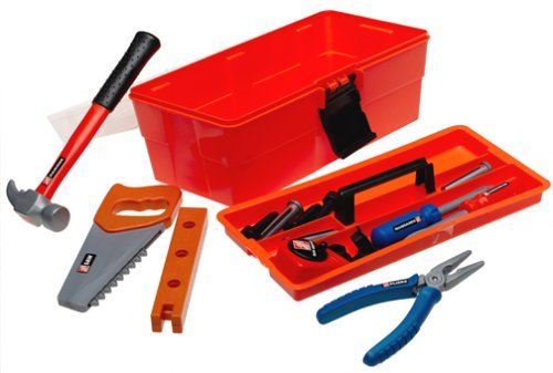 Home Depot 18-piece Tool Box (Kid Tool Set With Toolbox compare prices)