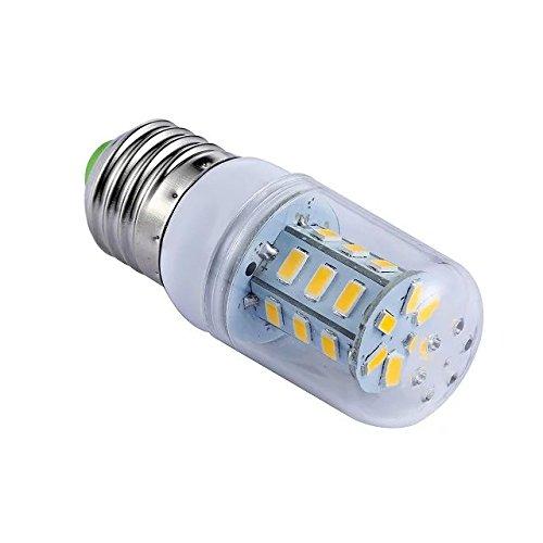 4x Ampoule LED E27Maïs Lumière 24SMD 5730blanc chaud 3W 220V AC éclairage décoratif avec housse