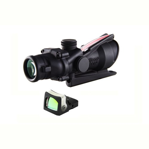 Acog Ta31Rm04 Trijicon 4X32 Scope With Dual Illuminated Red Crosshair .223 Reticle And 7.0 Moa Rmr Sight
