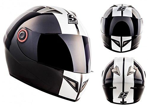SOXON-ST-666-Deluxe-Casco-Integrale-Urban-Scooter-Sport-Cruiser-Urbano-Moto-Motocicleta-Fullface-Helmet-ECE-Certificado-Incluyendo-Bolsa-de-Casco