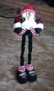 Fun Retractable Skiing Santa Christmas Decoration
