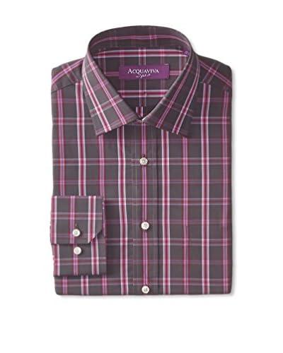 Acquaviva Men's Check Dress Shirt