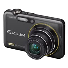 Casio EXILIM EX-FC100 BK High Speed Digitalkamera (9 Megapixel, 5-fach opt. Zoom, 30 Fotos/ Sek., 6,9 cm (2,7 Zoll) Display, mechan. Bildstabilisator) schwarz