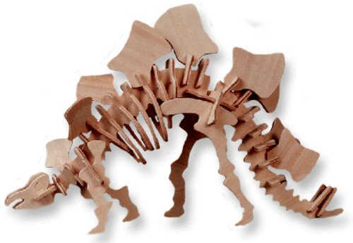 Click To 3-D Wooden Puzzle - Small Stegosaurus -Affordable Gift for your Little One! Item #DCHI-WPZ-J016 Details