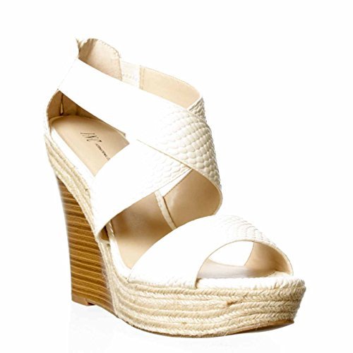 Inc International Concepts Women'S Carlin Espadrille Wedge Sandals In Bone Size 9 front-859653