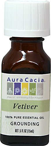 Aura Cacia Essential Oil Grounding Vetiver 0.50 oz