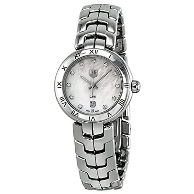 Tag Heuer Link Diamond Mother of Pearl Dial Stainless Steel Ladies Watch WAT1417.BA0954