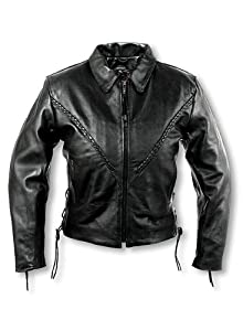 Interstate Leather Ladies Crop Jacket (X-Large)