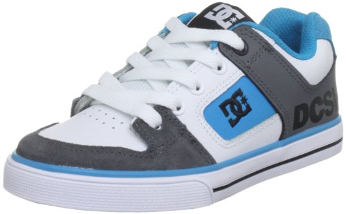 Dc Shoes Pure Kids Battle/Turquiose/White Fashion Sports Skate Shoe D0301069A 12 UK Junior, 13 US