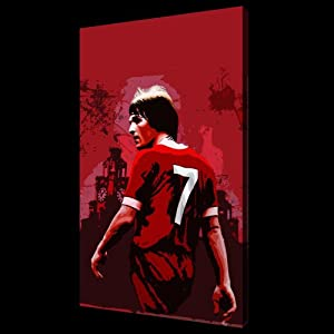 Kenny Dalglish Of Liverpool Fc Pop Art Style Oil Painting 28x16 Hand Painted Piece Of Art Not A Giclee Poster Or Printed Canvas This Is A Beautiful Rendition Of The Liverpool Legend And Current Manager Brushstrokes And Texture Are Evident And This Is Less