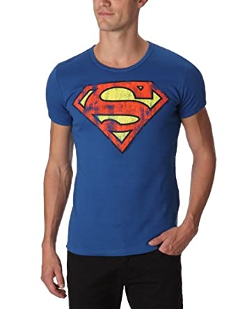 logoshirt superman logo azure logo men 39 s t shirt azure. Black Bedroom Furniture Sets. Home Design Ideas