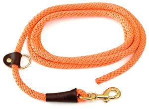 Mendota Products EZ Trainer Dog Lead/Leash, Orange, 1/2-Inch x 8-Feet