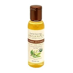 AURA CACIA Organics Skin Care Oil Sweet Almond 4 OZ