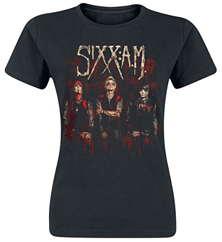 Sixx: A.M. Band Photo Maglia donna nero S