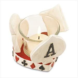 Poker Themed Card Votive Holder - Style 37119
