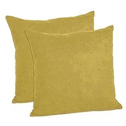 MoonRest - Faux Suede Decorative Pillow Shams Solid Colors (Set of 2) (20\