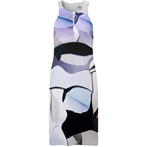 Kenzo Printed Zip Dress Blue