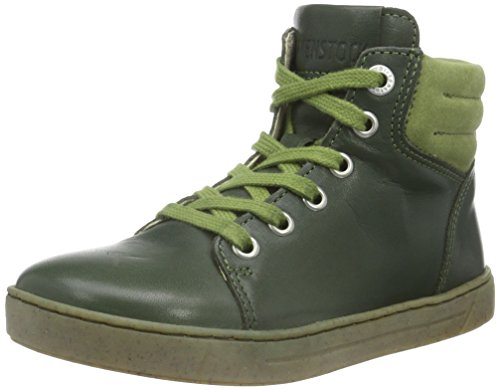 BirkenstockBartlett Kinder - Scarpe da Ginnastica Basse Unisex - Bambini , Verde (Verde (Oliva)), 35