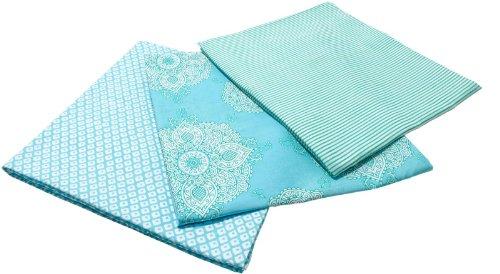 Masala Baby Kolam Swaddle Wrap Set - Turquoise