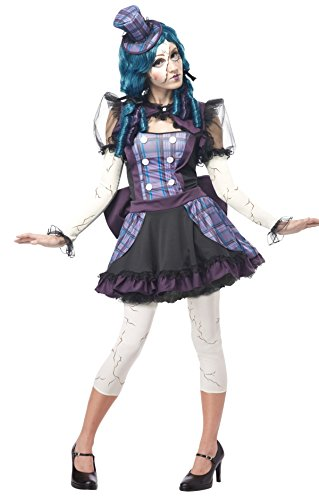 California Costumes Women's Broken Doll Sexy Creepy Steampunk Victorian Costume