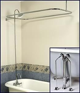 how to add a shower to a clawfoot bathtub