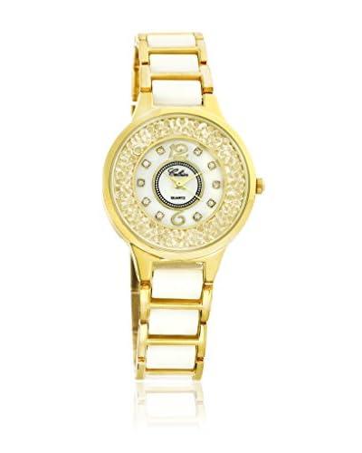 CERAM BY ART DE France Reloj con movimiento Miyota Woman Round Metal Dorado 30 mm