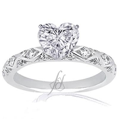 1.10 Ct Heart Shaped Diamond Engagement Ring