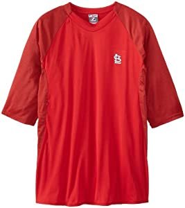 MLB St. Louis Cardinals Featherweight Tech Fleece, X-Large, Red/Heather Red