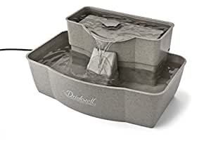 Drinkwell Rectangle Multi-Level Plastic Fountain Drinking Dish