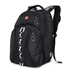 SwissGear Laptop Computer Backpack SA9768 (Black) Fits Most 15 Inch Laptops