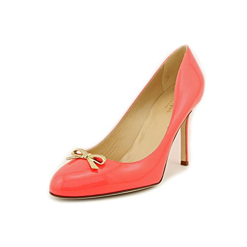 Kate Spade Antonella Womens Size 9.5 Orange Patent Leather Pumps Heels Shoes