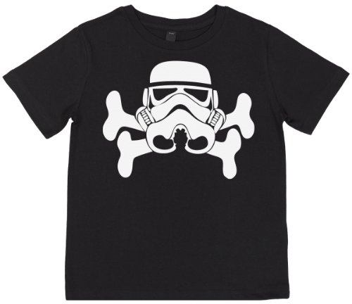 Phunky Buddha - Trooper & Bones Unisex Children Top 7-8 Yrs - Black front-728892
