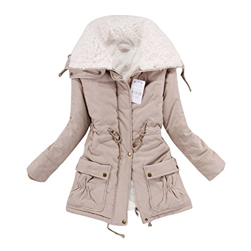 Soly Tech Women Lady Thicken Warm Winter Coat Hood Parka Overcoat Long Outwear Jacket (Ladies Winter Coats With Hoods compare prices)
