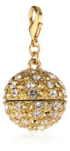 Pilgrim Women's Mega Charms Pendant Brass Gold Plated Crystal 514240