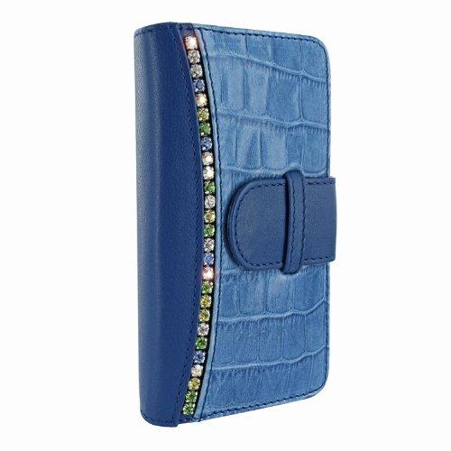 Great Price Apple iPhone 5 / 5S Piel Frama Blue Swarovski Crocodile Leather Wallet