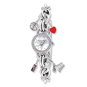 Ladies NBA Atlanta Hawks Charm Watch by Jewelry Adviser Nba Watches